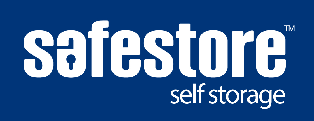 Safestore self storage LOGO - WHITE - blue backg - 003478
